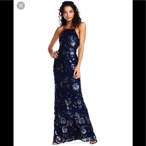 Adrianna Papell Dresses | Host Pick Halter Evening Gown | Poshmark